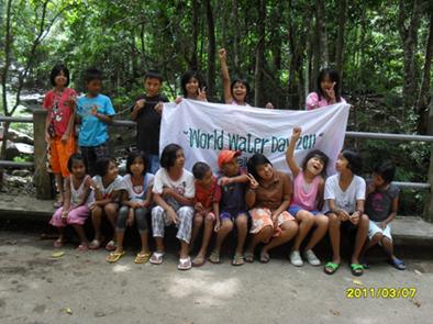 I bambini della Provincia di Songhkla festeggiano il World Water Day 2011