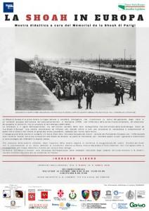 Manifesto della mostra La Shoah in Europa